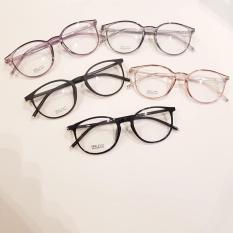 [Miễn phí vận chuyển – Tặng kèm Hộp đựng kính] Gọng kính cận mắt tròn xinh yêu nhiều màu trắng – đen bóng – đen nhám – hồng