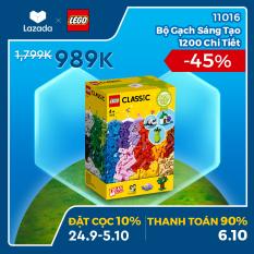 [ƯU ĐÃI ĐẶT TRƯỚC 24.09-05.10] – LEGO CLASSIC 11016 Bộ Gạch Sáng Tạo 1200 Chi Tiết ( 1201 Chi tiết) Đồ chơi lắp ráp sáng tạo – Chỉ áp dụng trên APP