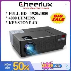 Máy chiếu Cheerlux CL770 projector Full HD 1920×1080, độ sáng 4000 Lumens , xem phim cực nét. Điều khiển keystone 4 chiều, Zoom. Bảo hành 12 tháng.