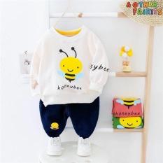 ❤️FREE SHIP❤️ Bộ quần áo cho bé hình ong vàng bé gái và bé trai từ 7 đến 20kg