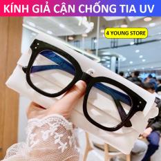 Kính cận thời trang chữ V nam nữ phong cách Hàn Quốc thay được tròng cận bảo hành 12 tháng lỗi 1 đổi 1 – Gọng kính cận 4 Young Store 017