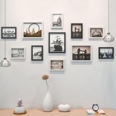 Bộ khung ảnh 11 chiếc tặng kèm tranh mầu và đinh 3 chân ( 3 chiec15.21cm – 8chiec 10.15cm)