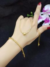vòng cổ vàng non mặt cầu cao cấp
