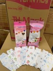 Túi 10 CÁI Khẩu Trang Em Bé 4D TUẤN HUY gồm 10 cái Kháng Khuẩn, yên tâm cho bé dùng mùa dịch