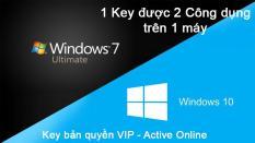 Windows 10 Pro và 7 Ultimate – Bản quyền Vĩnh viễn (2 in 1) – Key Active Online