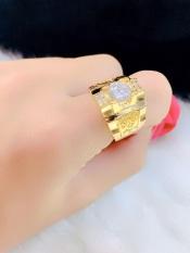 Nhẫn Nam Phong Thủy Đính Xoàn Mạ Vàng 24K ( 01 Chiếc ) – Tặng Kèm Hộp Trang Sức – Bao Đổi Trả Trong 07 Ngày