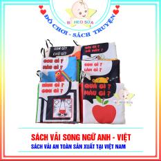 Sách vải PiPoVietnam kích thích thị giác – Song ngữ Anh Việt – 6 cuốn