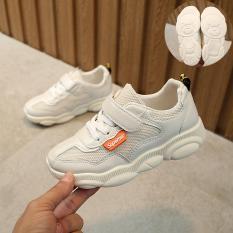Size lớn 33-38 giày thể thao đế hình chú gấu ngộ nghĩnh cho bé trai và be gái, giày sneaker , giày đi học, giày thể thao màu trắng, giày thể thao màu đen
