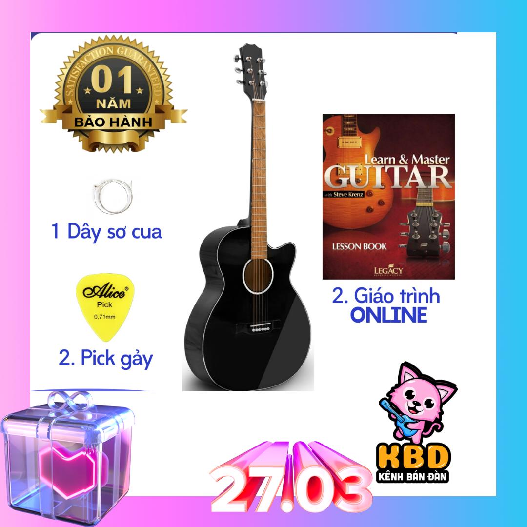 Đàn Guitar Acoustic S75 có ty chỉnh cần [TẶNG KÈM KHÓA HỌC]