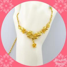 Dây Chuyền Cành Hoa Mùa Xuân Mạ Vàng 24k NHX01