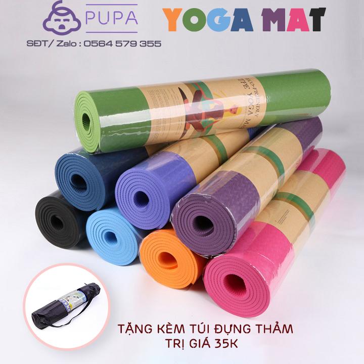 [Xả kho tháng 8] Thảm Tập Yoga TPE 2 lớp siêu dày {Hàng cao cấp} Tặng kèm túi đựng thảm tập yoga trị giá 35K