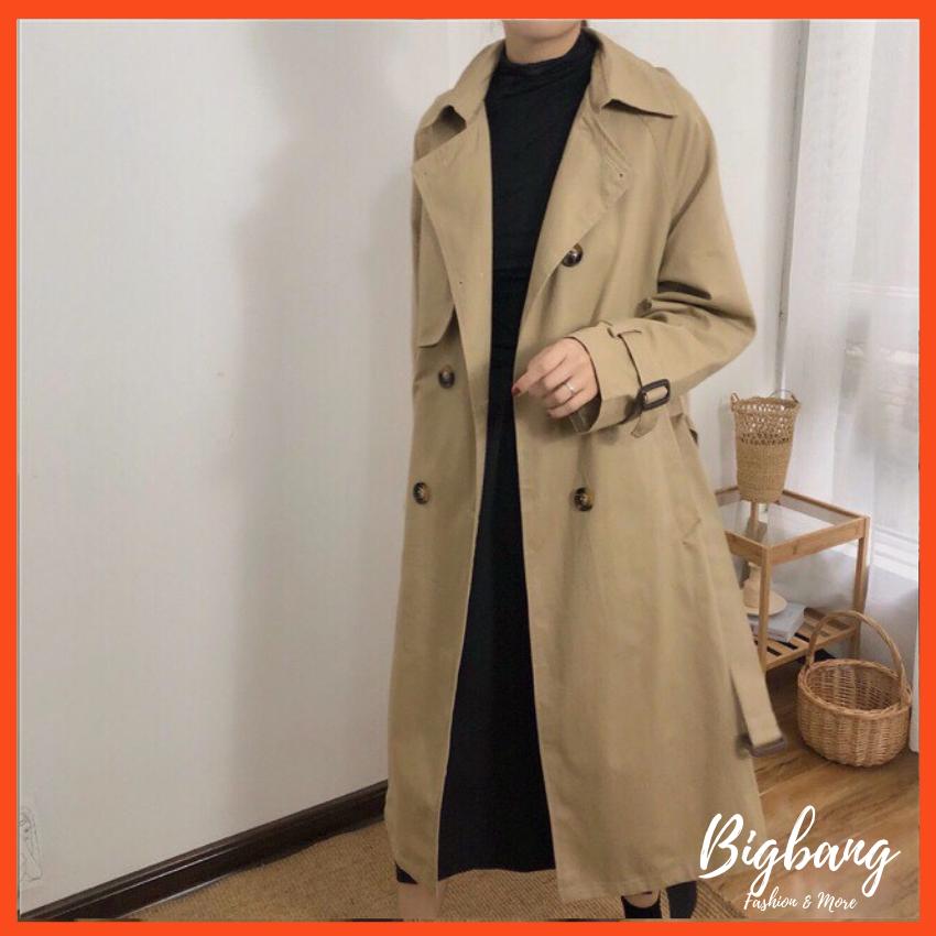 Áo khoác măng tô dáng dài cho nữ, áo khoác kaki dang dài cực sang – Bigbang shop