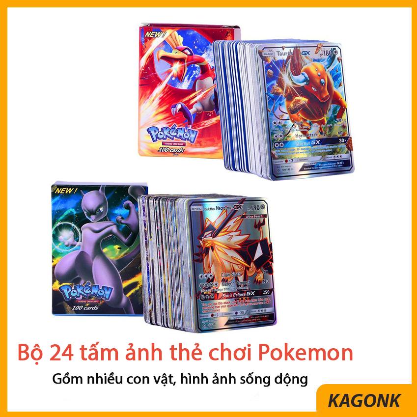 Bộ 24 tấm ảnh thẻ chơi Pokemon – Đồ chơi nhập vai trẻ em