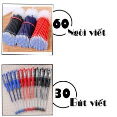 Combo 30 Bút Mực Nước Gel + 60 Ruột Ngòi Viết