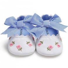 Giày tập đi thêu hoa có đính nơ công chúa cho bé gái BBShine– TD14