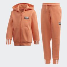 adidas ORIGINALS Bộ quần áo hoodie R.Y.V. Unisex trẻ em Màu hồng ED7780