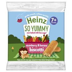 Bánh ăn dặm Heinz – Bánh quy ăn dặm vị dâu chuối cho bé 7 tháng tuổi. Date 2021