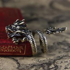 Nhẫn Rồng Nam Nữ Cá Tính Mạnh Mẽ , Nhẫn Nam Đẹp Ngầu Hình Rồng Xoắn Kiểu Dáng Độc Đáo