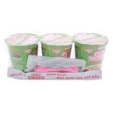 Bộ 3 Ly Mì Cup Noodles Hương Vị Sườn Chanh Thái Lan (74g) Tặng Quạt USB