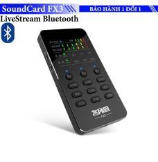 Sound card Karaoke/ Livestream XOX FX3 thế hệ mới kết nối Bluetooth không dây