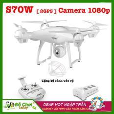 Máy bay flycam S70W-2GPS-1080P, Thời lượng bay 15-17 phút, tầm xa 500m, camera xoay 90 độ, phiên bản New 2018 full HD 1080P ( Đối thủ Syma X8 Pro)