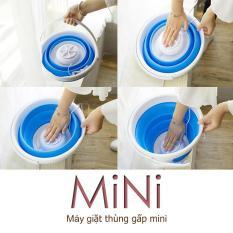 Thùng giặt máy giặt mini có thể gấp gọn tua bin xoáy tiếng ồn thấp máy giặt cỡ nhỏ mini