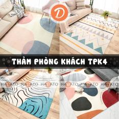 Thảm trải sàn Thảm phòng khách Thảm phòng ngủ trang trí decor nội thất siêu đẹp, chất liệu lông cừu cao cấp – TPK 4