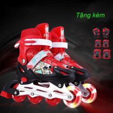 giày trượt patin bánh xe phát sáng Đơn + Tặng bộ bảo hộ cho bé – KIM STORE 89