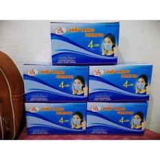 5 hộp Khẩu trang y tế Nam Anh 4 lớp [ kháng khuẩn] 1 hộp 50 Cái