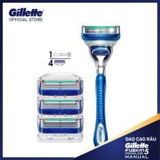 Combo dao cạo râu Gillette Fusion 5 ( 1 cán + 4 lưỡi)