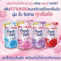 [Giao 4 màu LẤY MÃ FREE SHIP] COMBO 4 Bịch Nước Xả Vải Fresh & Soft 600ml/Bịch Thailand