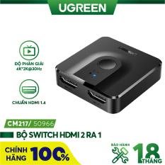 Bộ Switch HDMI 2 ra 1 (tương thích ngược 1 ra 2) chuẩn 1.4 UGREEN CM217 50966 – Hàng phân phối chính hãng – Bảo hành 18 tháng
