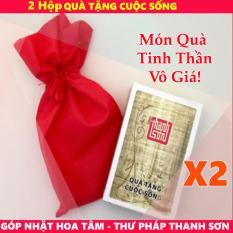 Hạt Giống Tâm Hồn – 2 Bộ Thẻ Góp nhặt Hoa Tâm – Thư pháp Thanh Sơn