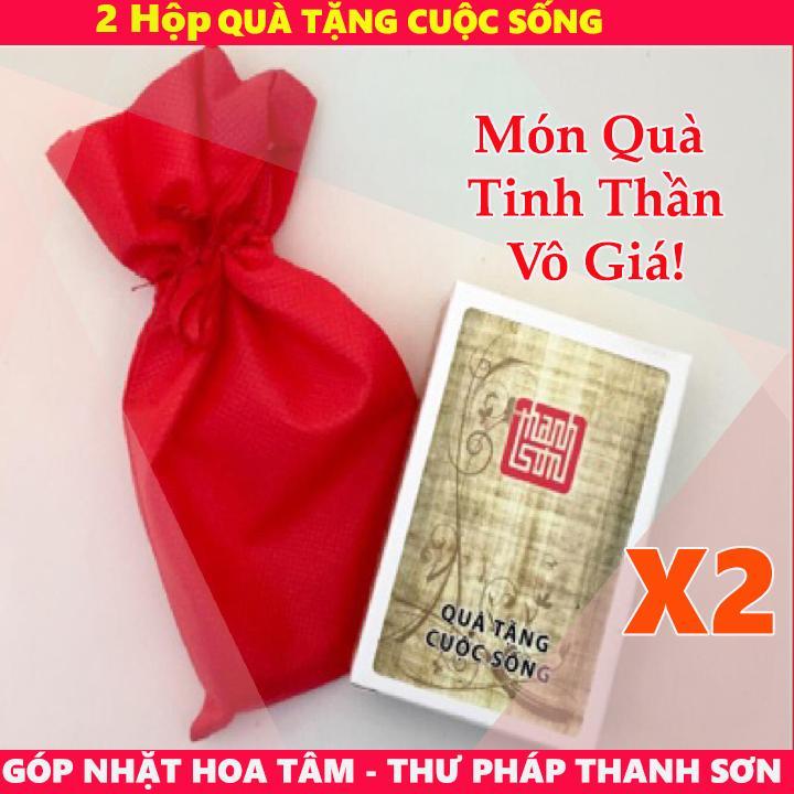 Hạt Giống Tâm Hồn - 2 Bộ Thẻ Góp nhặt Hoa Tâm - Thư pháp Thanh Sơn