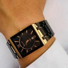 [Ở ĐÂU RẺ HƠN SHOP HOÀN TIỀN] Đồng hồ nam halei dây vàng mặt đen,chống nước ,chống xước tuyệt đối