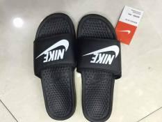 [Siêu Rẻ] Dép Nike Đen Móc Trắng Nam Nữ Thời Trang [Full Hộp]