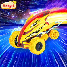 Xe đồ chơi cho bé, Xe ô tô đồ chơi địa hình dáng cá mập nhào lộn 360 độ giảm xóc và chạy đà cực mạnh bằng nhựa nguyên sinh ABS Baby-S – SDC053