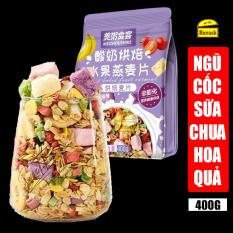 [GÓI TÍM] Ngũ Cốc Giảm Cân Sữa Chua Trái Cây Mix Hạt Sấy Khô Oatmeal Yến Mạch Meizhoushike 400g – Ngũ Cốc Ăn Kiêng Dinh Dưỡng Ăn Liền – Đồ Ăn Vặt Nội Địa Trung Quốc – Ruvask