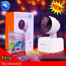 Camera WIFI IP Ebitcam E2 Tặng thẻ nhớ 64GB ( Độ phân giải 1.0 Megapixe )