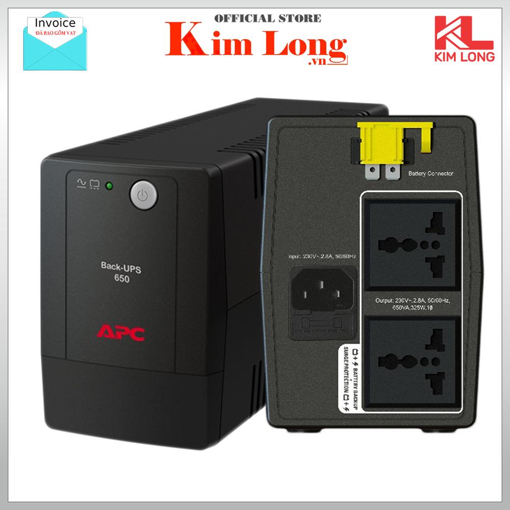 Bộ lưu điện UPS APC BX650LI-MS 650VA 230V AVR Universal Sockets ( có bình ) – bảo hành 24 tháng chính hãng