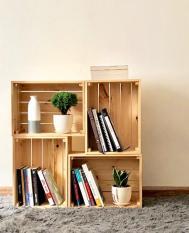 Hộp gỗ Pallet đa năng / Hộp gỗ thông tự nhiên FEGO / Để đồ và Decor trang trí nhà cửa