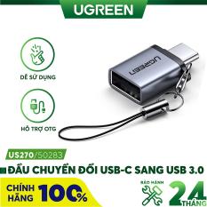 Đầu chuyển đổi USB type C sang USB 3.0 hỗ trợ OTG, tương thích với Chromebook Macbook Huawei P9 /P10/P20/Mate 9/Mate 10 Samsung S8 Xiaomi 4C Nexus 5X 6P LG G5… UGREEN US270