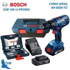 Máy khoan động lực Máy khoan tường dùng Pin Bosch GSB 180-Li PROMO Bảo hành 6 tháng hộp phụ kiện 41 chi tiết 2 Pin 18V xuất xứ Malaysia