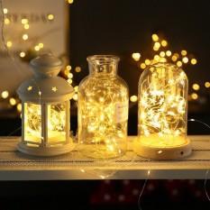 Dây Đèn Led Đom Đóm trang trí tết giáng sinh phòng ngủ Chipsbling Fairy Lights đồng dài 10m- 100 bóng LED – Nguồn USB