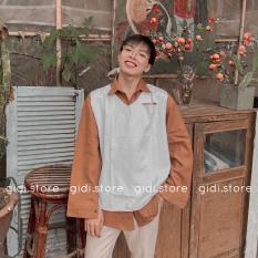 Áo GILE CUT Nam Nữ Unisex – áo ba lỗ phối sơ mi áo thun cực xinh, vải thun không nhăn