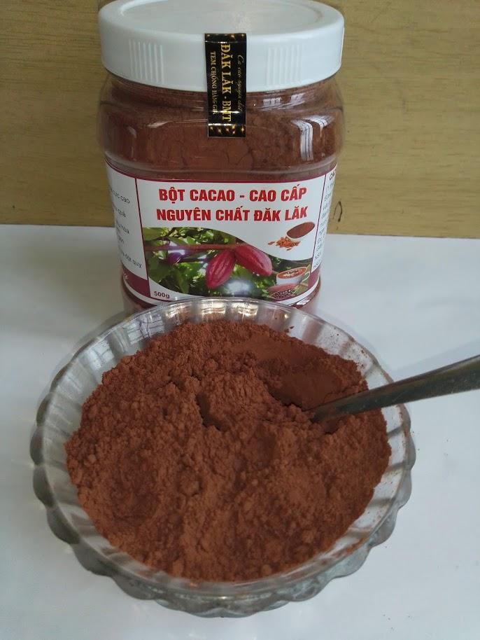 Bán 500gr Bột cacao nguyên chất Đăk Lăk loại 1 chỉ 53.000₫ | Review ZimKen