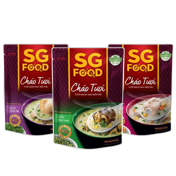 Lốc 3 (32) – Cháo tươi SG Food 270g sườn non lươn cá lóc (810g)