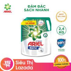 Túi nước giặt Ariel Matic đậm đặc Sạch Nhanh 2.4kg