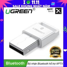 USB Bluetooth 4.1 CSR hỗ trợ Aptx dùng cho máy tính để bàn hoặc laptop UGREEN US192 30443 – Hãng phân phối chính thức