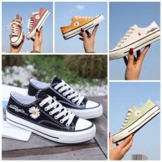 ( 3 màu ) Giày Nữ Thời Trang Hoa Cúc Kiểu Dáng ConVersess Mới Hot Trend 2020, Giày Nữ Hoa Cúc Mới Giảm Giá Cực Sốc